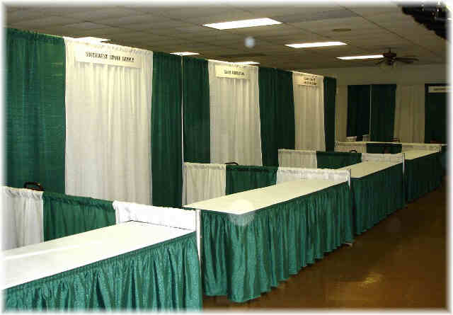 Pipe and Drape Booth Rental Example 2