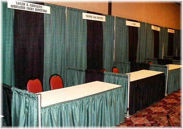 Pipe and Drape Booth Rental Example 3
