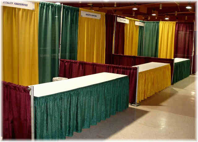 Pipe and Drape Booth Rental Example 4