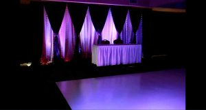 Rent a white dance floor for wedding reception or party.