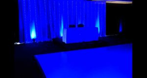 White dance floor for rent is perfect for a wedding reception or party.